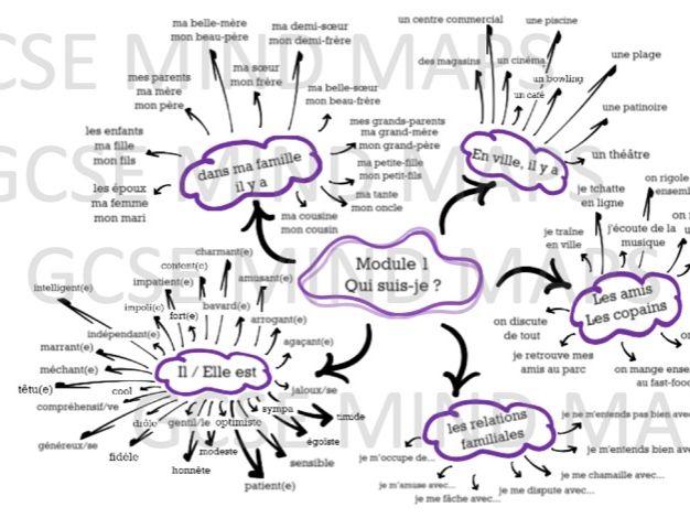 French GCSE Mind maps (module 1-6)