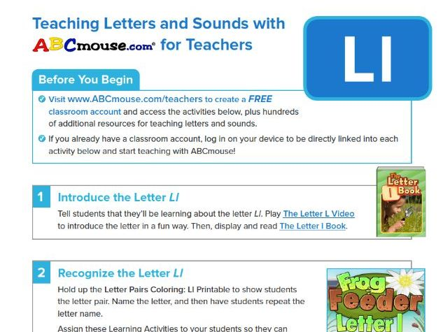 Teaching the Letter Ll with ABCmouse
