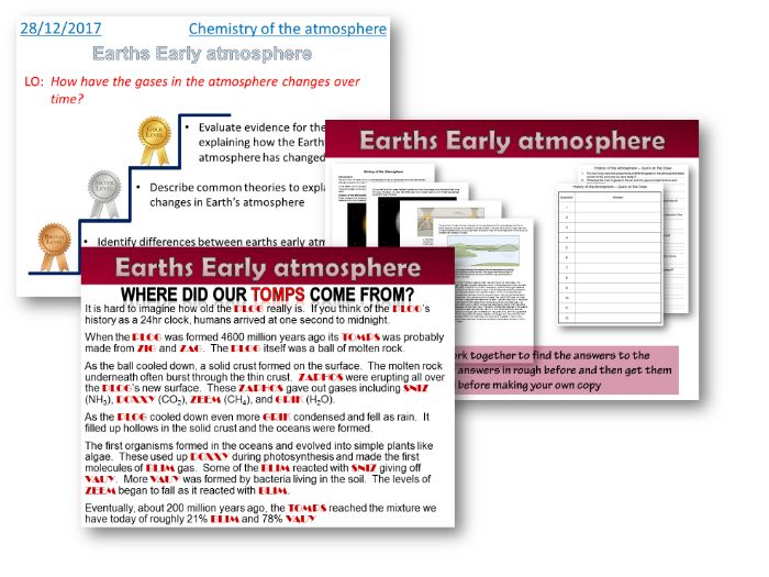AQA Chem / Trilogy - Earth's Early Atmosphere