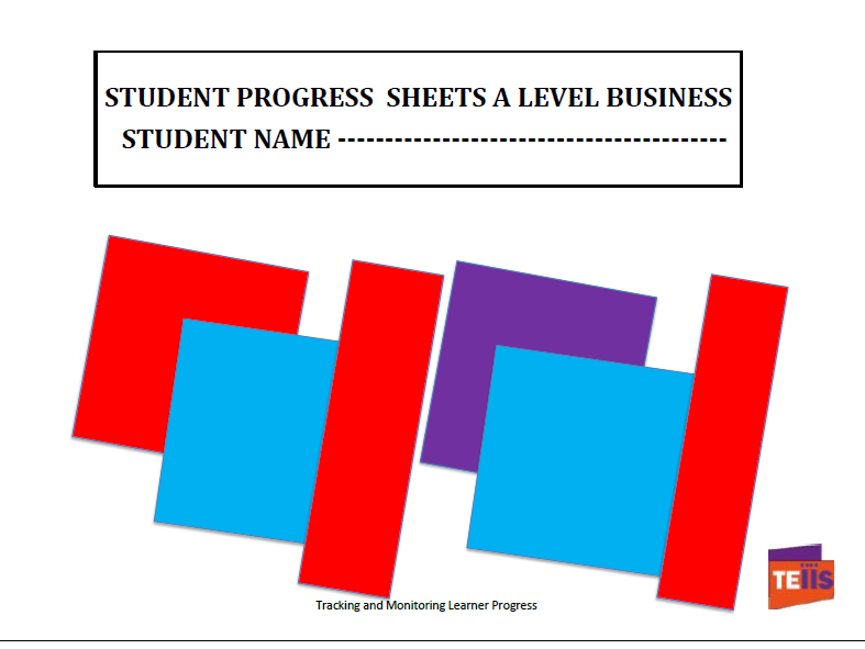 A Level Business Student Progress Sheets