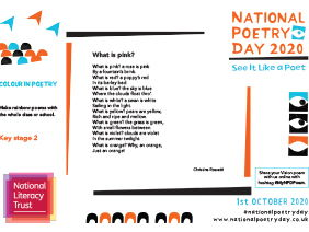 National Poetry Day 2020 NLT KS2 Education Resource