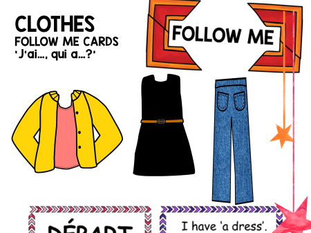 Follow Me Cards: French Clothes Les vêtements