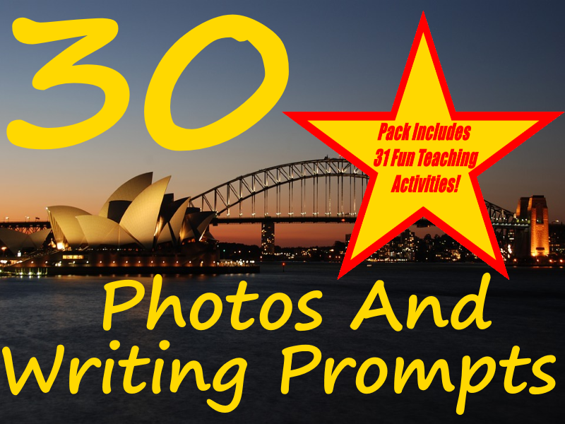 Australian Visual Writing Prompts, 30 Hours of Australian worksheets + 31 ways to use this resource