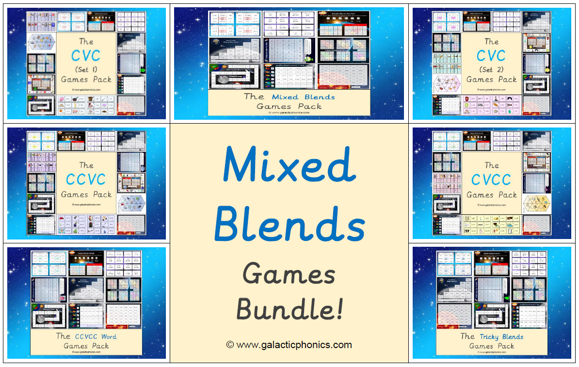 The Mixed Blends Games Bundle (Letters & Sounds Phase 4)