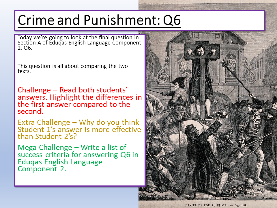 Eduqas English Language Component 2 Q6