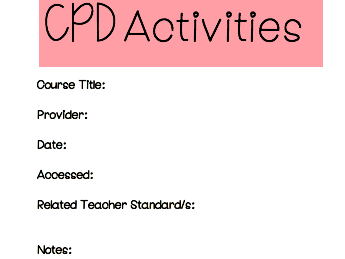 Continuing Professional Development log