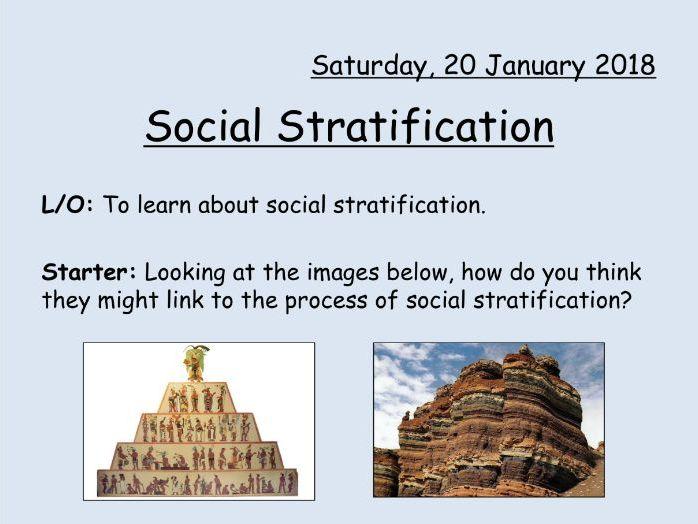 WJEC Eduqas GCSE (9-1) in SOCIOLOGY - Social Stratification