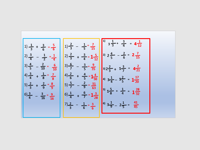 Adding and subtracting fractions lesson 2