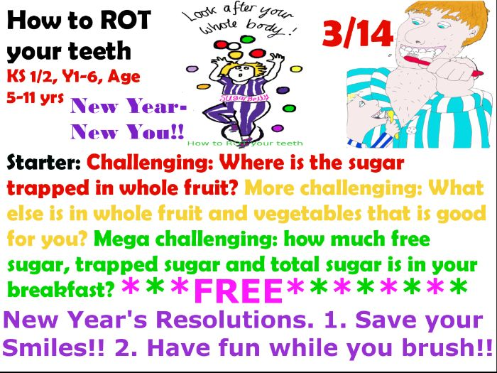 Free!! 3/14  New Year's Resolutions! Save your smiles!