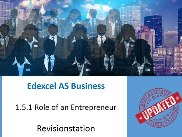 Edexcel AS Business Entrepreneurs and Leaders resources