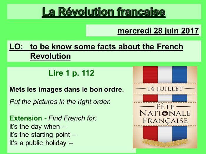La Révolution française - Studio 2 Vert Module 6 Unit 3