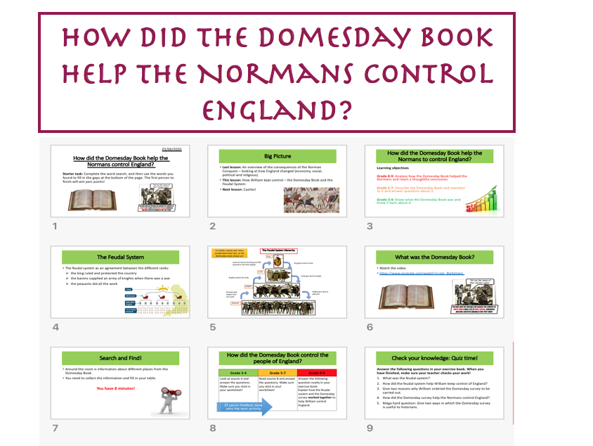 The Domesday Book - Norman Conquest