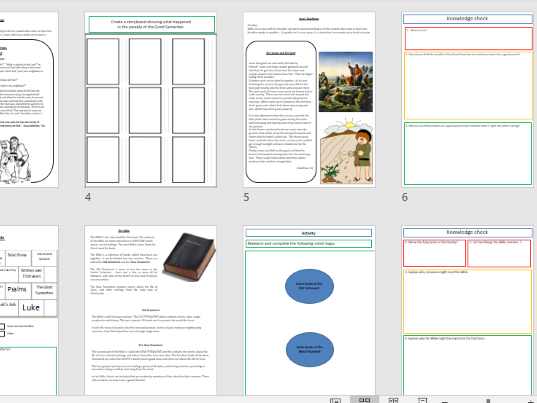 Differentiated KS3 Christianity work booklet