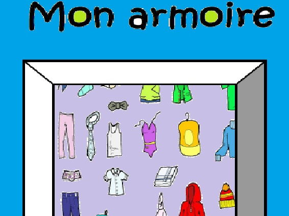 "12 page booklet ""Mon armoire"""
