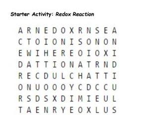Redox reaction starter