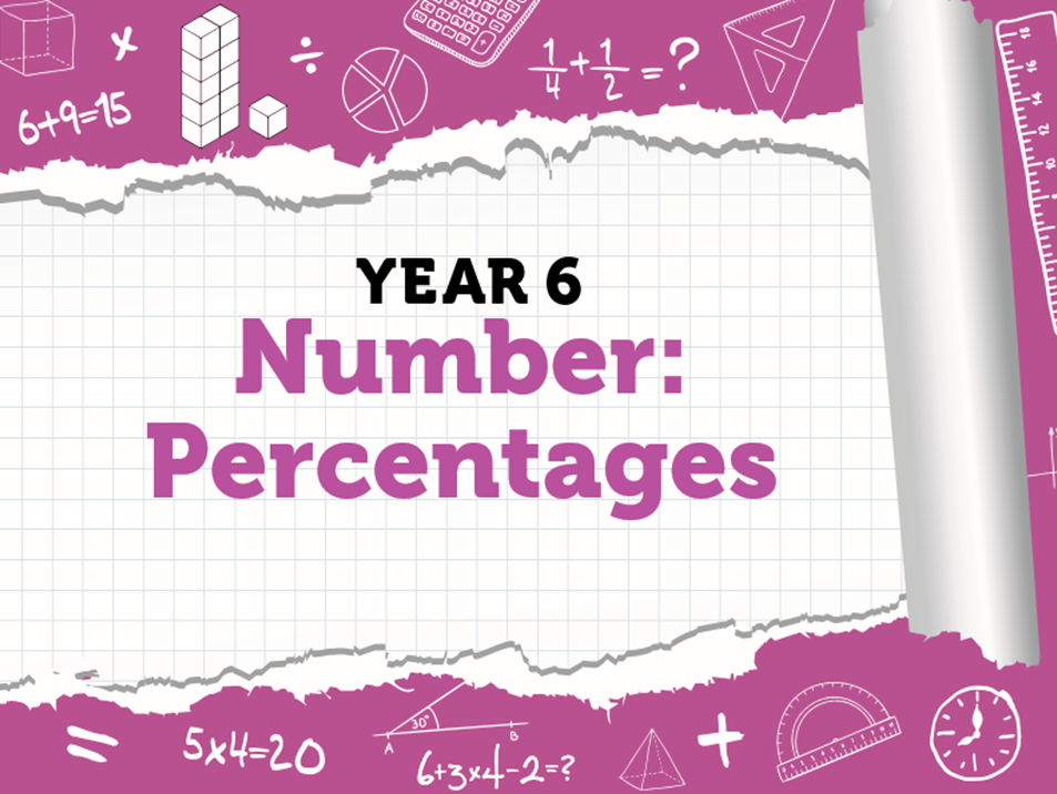 Year 6 – Percentages – Spring weeks 3 and 4 - FDP, finding a percentage of an amount, increase and decrease