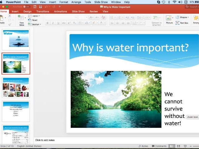 Why is Water Important PowerPoint Yr2