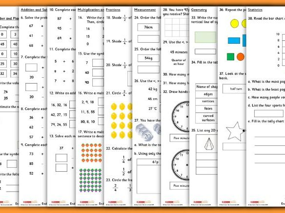 End of Year 2 Maths Test Assessment
