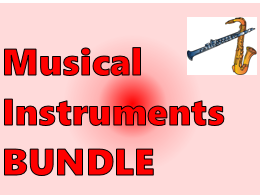 Instrumentos musicales (Musical Instruments in Spanish) Bundle