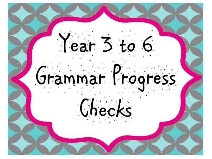 Year 3-6 Grammar Progress Checks