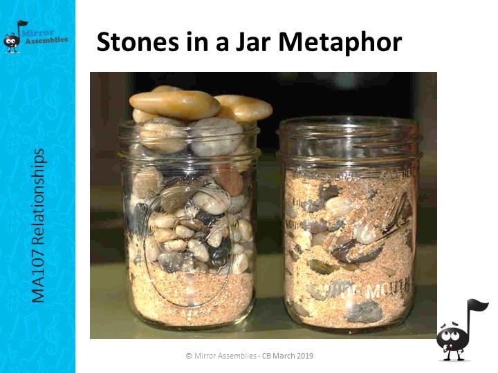 Stones in a Jar Metaphor - written for KS2