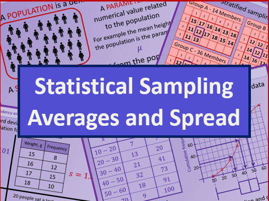 Sampling, data representation, averages and spread - A level AS Mathematics