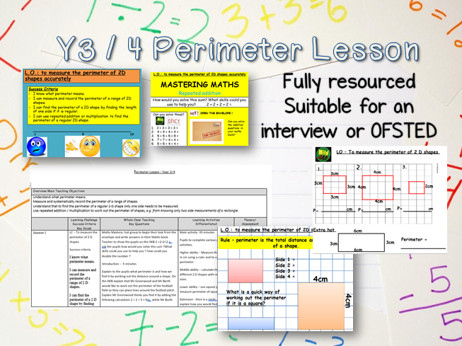 Outstanding Y3/4 Interview Maths Lesson -perimeter, mastery, reasoning, geometry