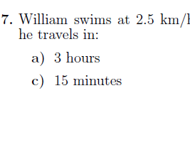 Speed worksheet no 2 (with solutions)