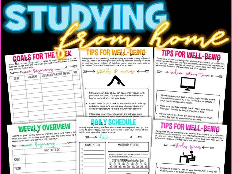 Study From Home Guide / Journal For Students