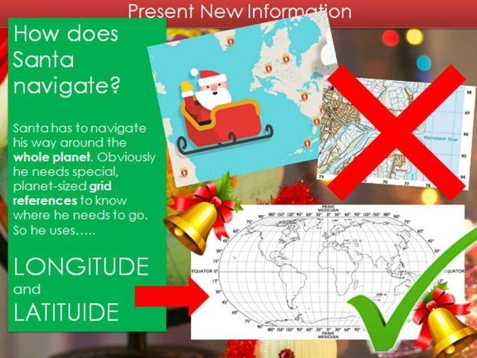 Christmas Geography KS3 lesson - Longitude and Latitude