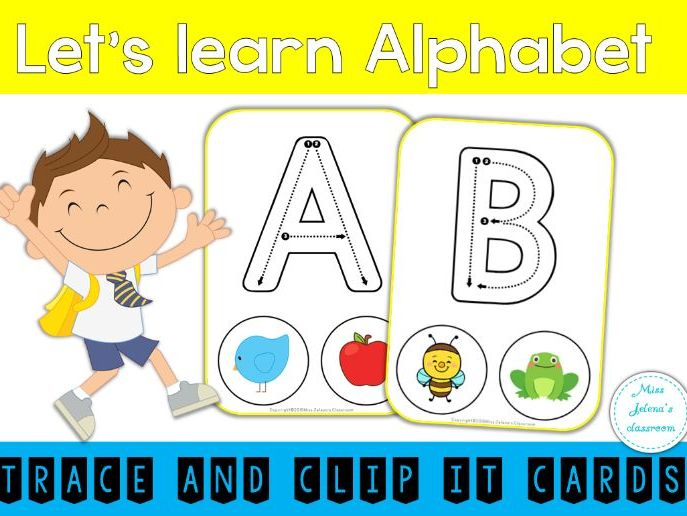 Alphabet Trace and Clip Cards