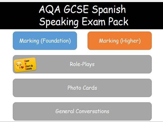 GCSE Spanish Speaking Exam Pack