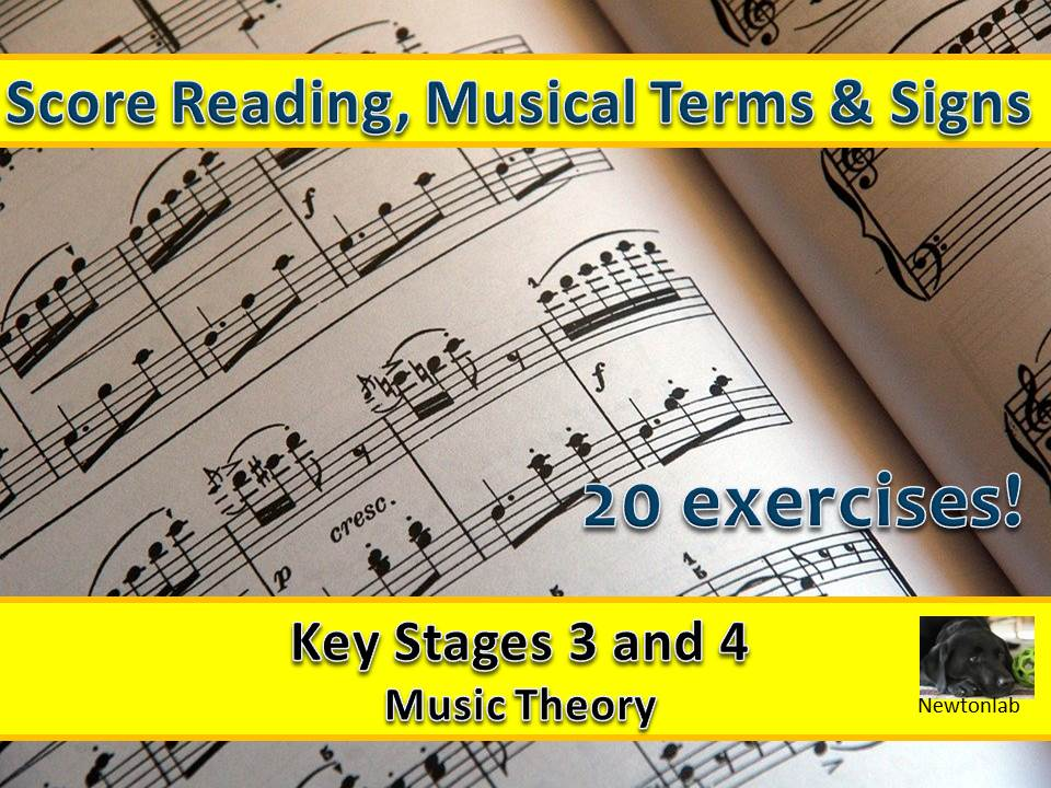 Score Reading, Musical Terms & Signs - Keys Stages 4 and 5