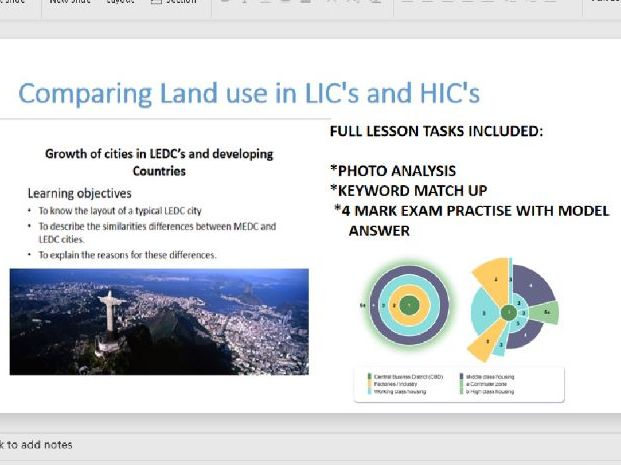 GCSE Geography comparing land use in HIC's and LIC's Rio Brazil