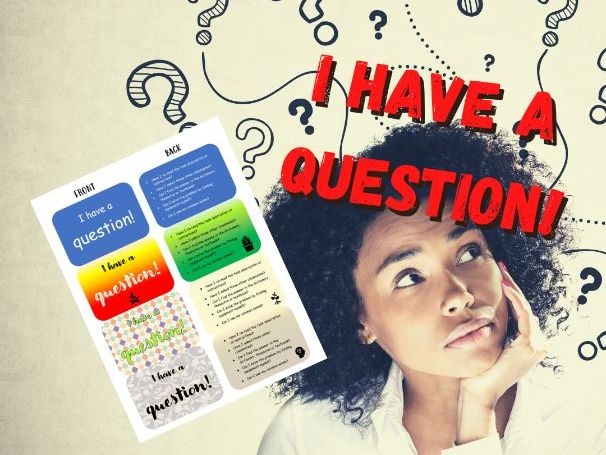 Question Cards   Promote Independence and Problem Solving