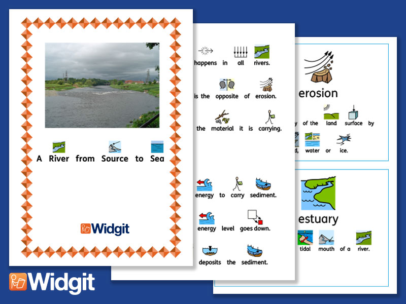 Rivers - Geography Unit with Widgit Symbols
