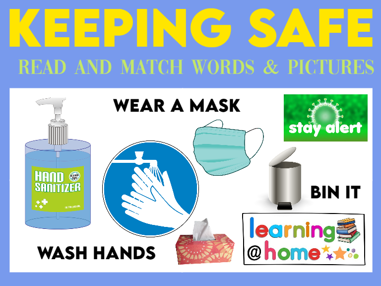 Keeping Safe Read and Match Words and Pictures
