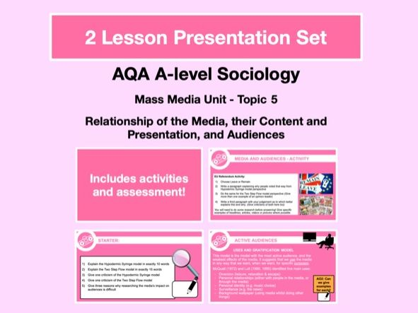 Media Relationship with Audiences (Media Models) - AQA A-level Sociology - Mass Media Unit - Topic 5