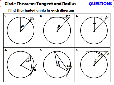 Circle Theorem - Tangent and Radius