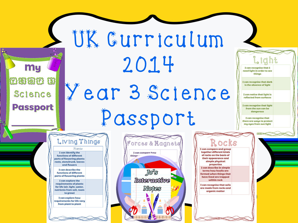 Year 3 National Curriculum Science Passport