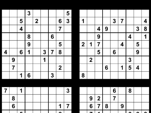 Free Sudoku Puzzles, Set 8