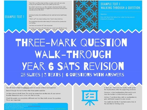 Year 6 SATS Reading  3 Mark Question Lesson