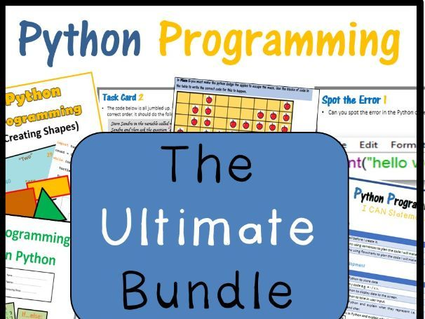 Python Programming Coding - The Ultimate Lesson Plans Bundle