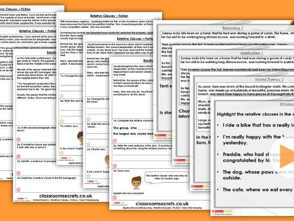 Grammar Year 5 Relative Clauses Summer Block 2 Step 2 Lesson Pack