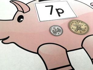 UK Coins Making Money Piggy Banks