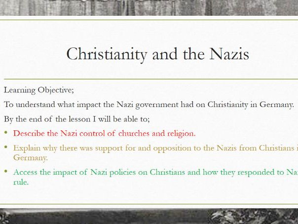 AQA Democracy and Dictatorship: Christianity and the Nazis
