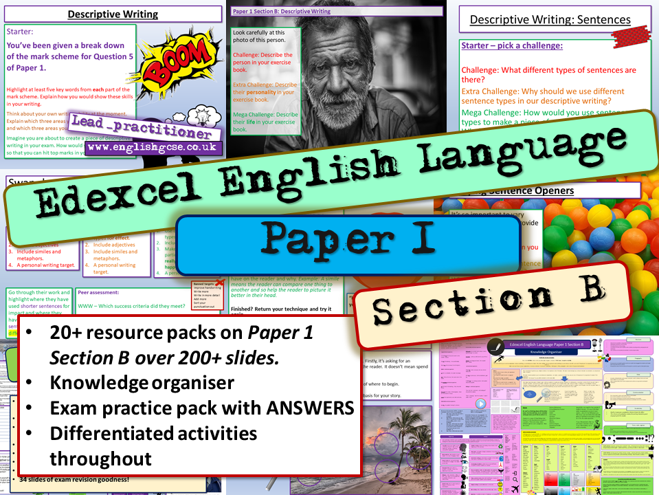 Edexcel English Language Paper 1 Section B