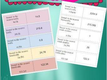 Quiz Quiz Trade- A Rounding Decimals Math Activity