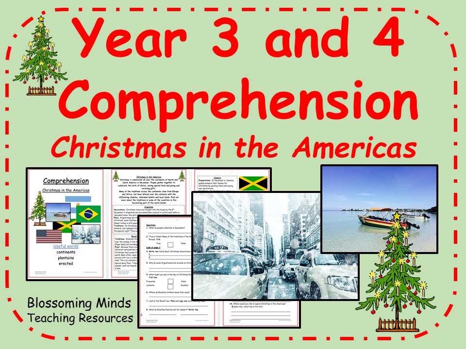 Year 3 and 4 comprehension - Christmas in the Americas