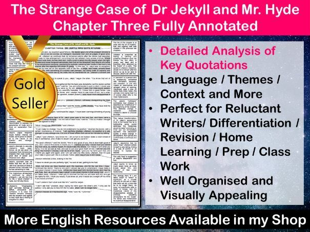 The Strange Case of Dr Jekyll and Mr Hyde Chapter 3 Fully Annotated